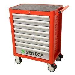 seneca gereedschapwagen 7 lades Rood