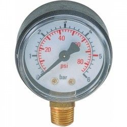 """Manometer Ø 50.mm 1/4"""" onderzijde"""