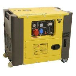 Diesel generator set geluidsgedempt 230V/400V 6kVA