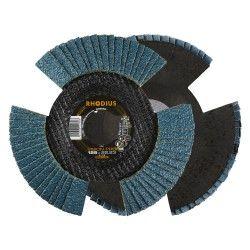 Lamellenschijf V conisch vision pro 125 x 22,23mm K80 10 stuks