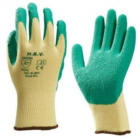 HBV werkhandschoen groen/geel