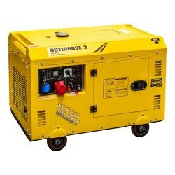 Diesel generator set geluidsgedempt 230V-400V 10kVA